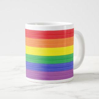 Painted Rainbow Flag Large Coffee Mug