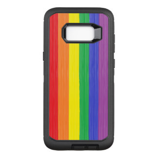 Painted Rainbow Flag OtterBox Defender Samsung Galaxy S8+ Case