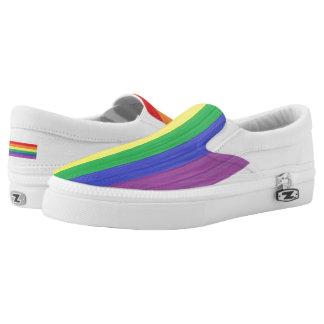 Painted Rainbow Flag Slip-On Sneakers