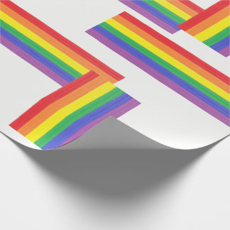 Painted Rainbow Flag Wrapping Paper