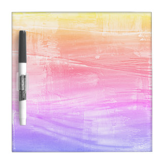 Painted Rainbow Sea Colorful Dry Erase Board