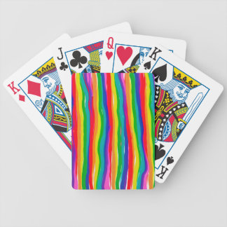 Painted Rainbows Bicycle Playing Cards
