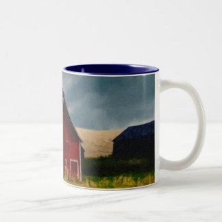 Painted Red Barn Two-Tone Coffee Mug