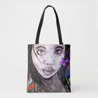 Painted Red Monet Tote Bag