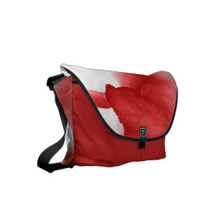 Painted Red Petals Courier Bag