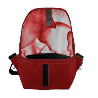 Painted Red Petals Messenger Bag