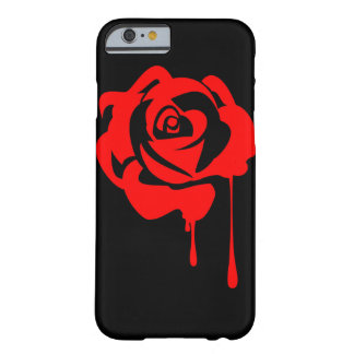 Painted rose iPhone 6 case with black background