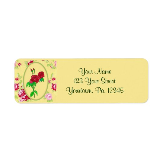 Painted Roses Address Label