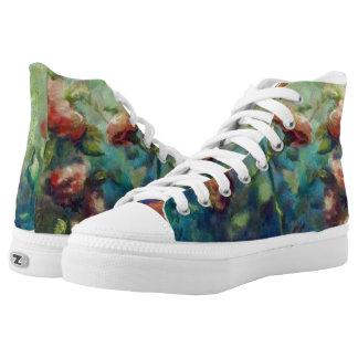Painted Roses hightop sneakers