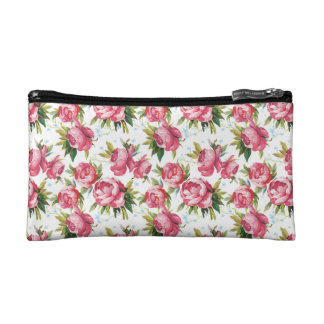 Painted roses pattern cosmetics bags