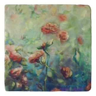 Painted Roses Trivet
