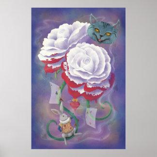 Painted Roses Wonderland Poster
