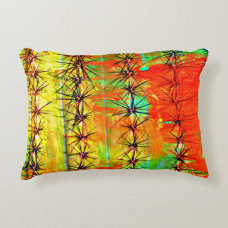 Painted Saguaro Accent Pillow
