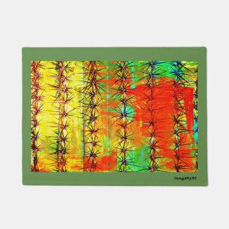 Painted Saguaro Door Mat