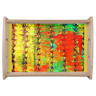 Painted Saguaro Serving Tray