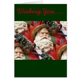 Painted Santa Card