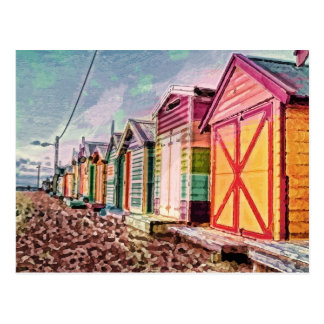 Painted Sea Baths Postcard
