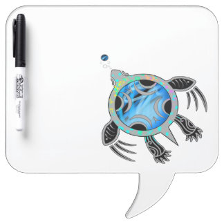 Painted Sea Turtle Dry Erase Board