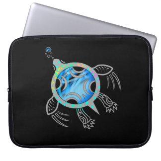 Painted Sea Turtle Laptop Sleeve