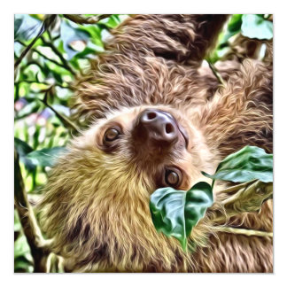 painted Sloth Magnetic Card