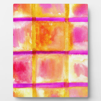 Painted Squares Art3 Plaque