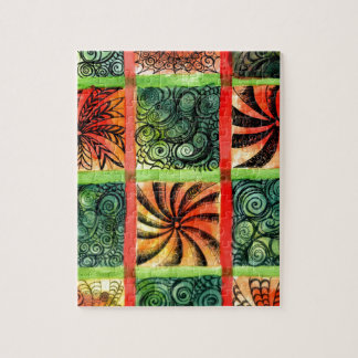 Painted Squares Art 3 Jigsaw Puzzle