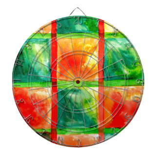 Painted Squares Art Dart Boards