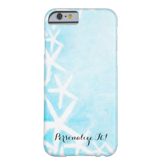Painted Starfish Aqua Blue Beachy Summer Custom Barely There iPhone 6 Case