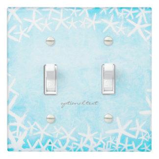 Painted Starfish Aqua Blue Tropical Beach Custom Light Switch Cover