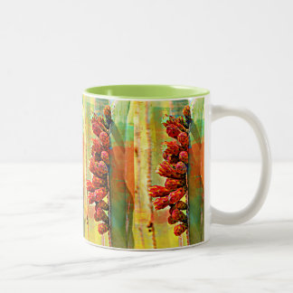 Painted Stove Pipe Cactus Coffee  Mug