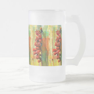 Painted Stove Pipe Cactus Frosted Mug