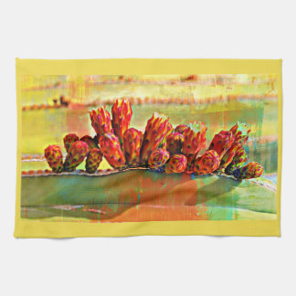 Painted Stove Pipe Cactus Kitchen Towel
