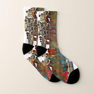 Painted Stove Pipe Cactus Socks