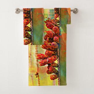 Painted Stove Pipe Cactus Towel Set