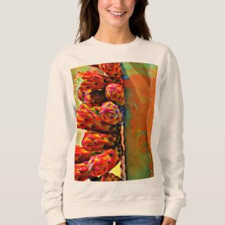 Painted Stove Pipe Cactus Women's Sweatshirt