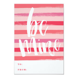 "Painted stripe classroom valentine day card 3.5"" x 5"" invitation card"