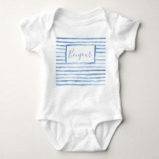 Painted Stripes Customizable Onsie Baby Bodysuit