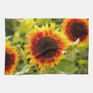 Painted Sunflower. Kitchen Towel