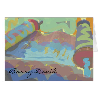 PAINTED TORAH Bar Bat Mitzvah Thank You Card