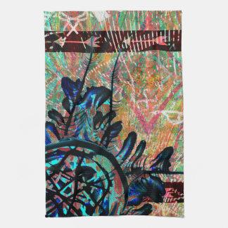 Painted Tribal Flower Boho Southwest Arrow Pattern Hand Towel