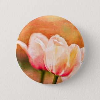 Painted Tulips 2 Inch Round Button