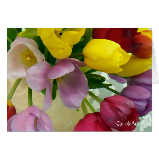 """Painted Tulips Bouquet"" Card"