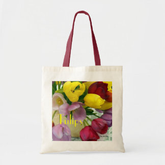 Painted Tulips Bouquet Tote Bag