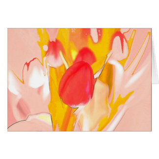 Painted Tulips Card
