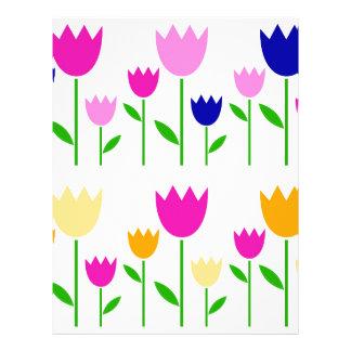 Painted Tulips summer Collection Custom Letterhead