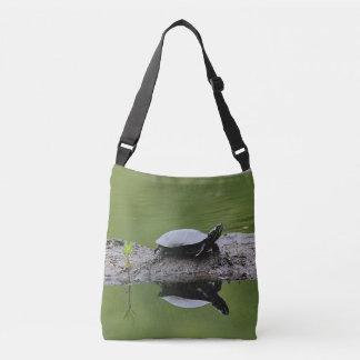 Painted turtle crossbody bag