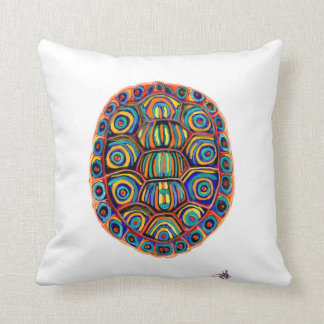 Painted Turtle Shell Throw Pillow