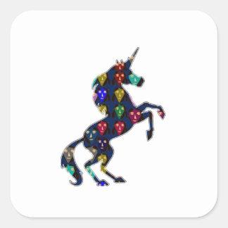 Painted UNICORN horse fairytale navinJOSHI NVN100 Square Sticker