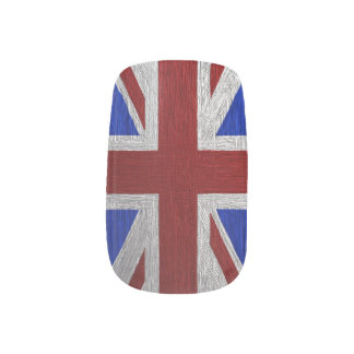 Painted Union Jack, Matching print Minx Nail Art