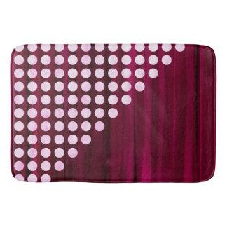 Painted Velvet Polka dot Pattern Bath Mat